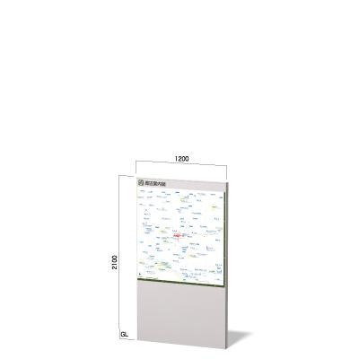 横幅1200㎜の縦2100㎜のダイナスティの地図看板