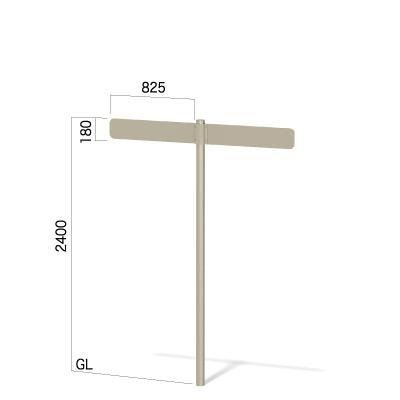 横825㎜の高さ2400㎜の2方向指示看板