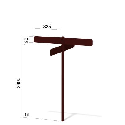 横825㎜の高さ2400㎜の4方向指示看板