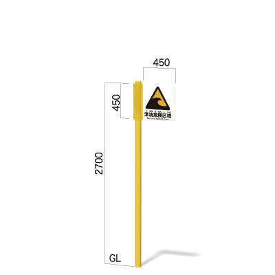 横450㎜の高さ2700㎜の1方向指示看板