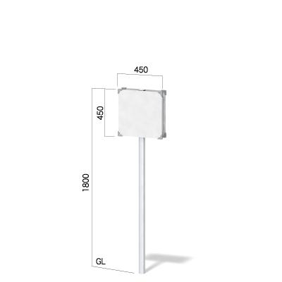 450㎜正方形の面板の高さ1800㎜の看板