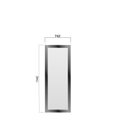 横742㎜×縦1940㎜の黒色のフレーム付き看板