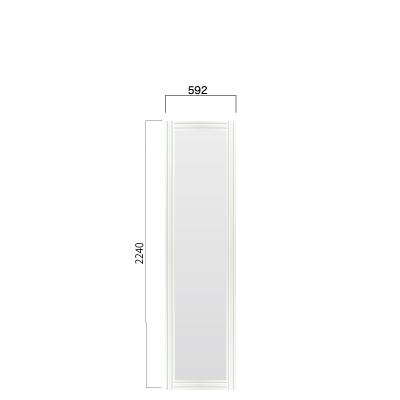横592㎜×縦2240㎜のホワイト色のフレーム付き看板
