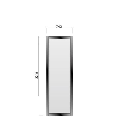 横742㎜×縦2240㎜の黒色のフレーム付き看板