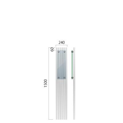 横240㎜×高さ1500㎜のガラス片面マット仕上の看板