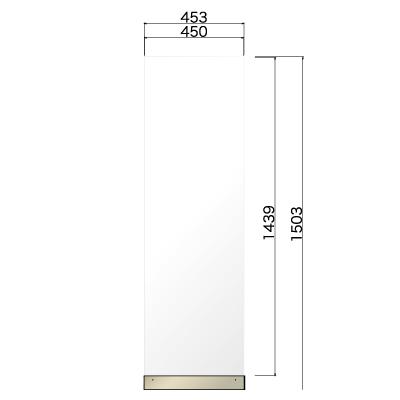 横453㎜×高さ1503㎜のホワイト色の看板