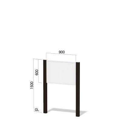 横900㎜×高さ1500㎜のダークブロンズ色のフレームの看板