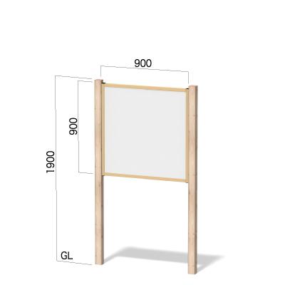 横900㎜×縦1900㎜のヒノキ柄の看板