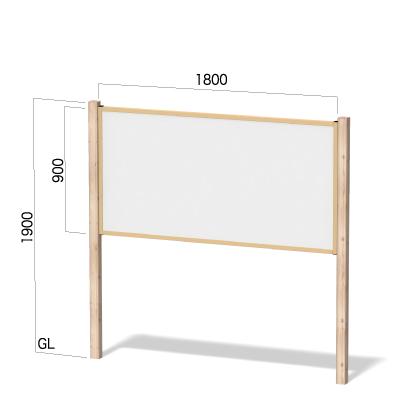 横1800㎜×縦1900㎜のヒノキ柄の看板