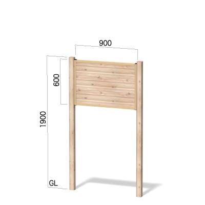 横900㎜×縦1900㎜の木目柄シート貼り複合板の看板