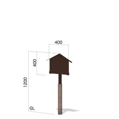横400㎜×縦1200㎜の三角屋根の和風看板
