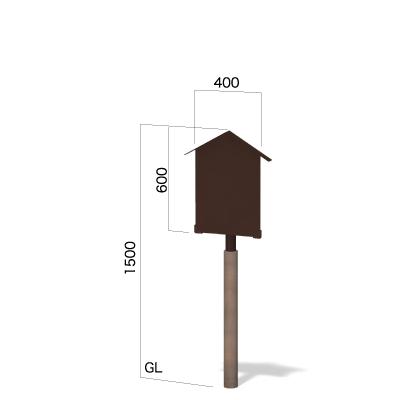 横400㎜×縦1500㎜の三角屋根の和風看板
