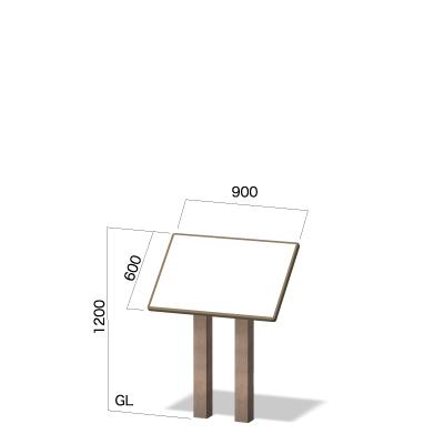 横900㎜×高さ1200㎜の傾斜有りのウッド調看板