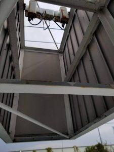 大型看板メンテナンス鉄骨フレーム